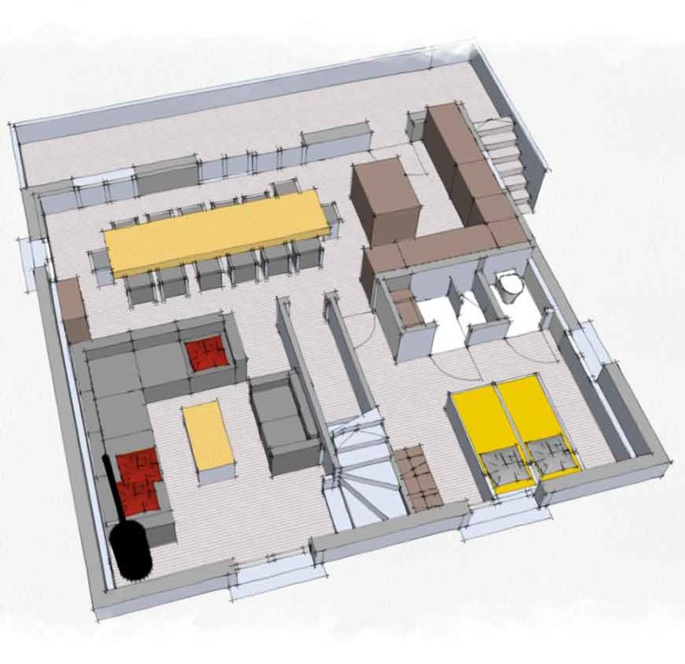 Map of the 1st floor - Chalets Lacuzon