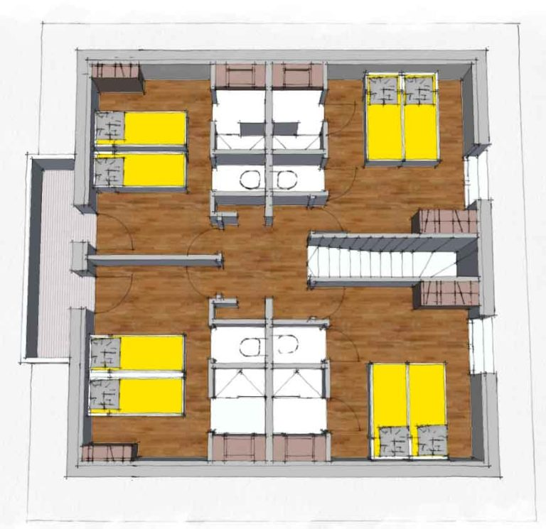 Map of the 2nd floor - Chalets Lacuzon