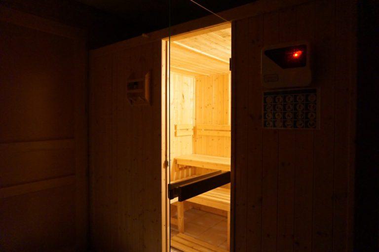 Sauna dans le chalet