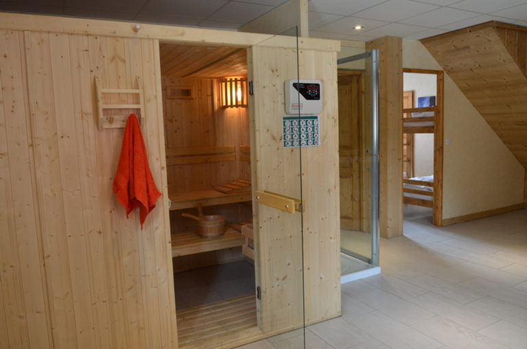Sauna in the wellness area