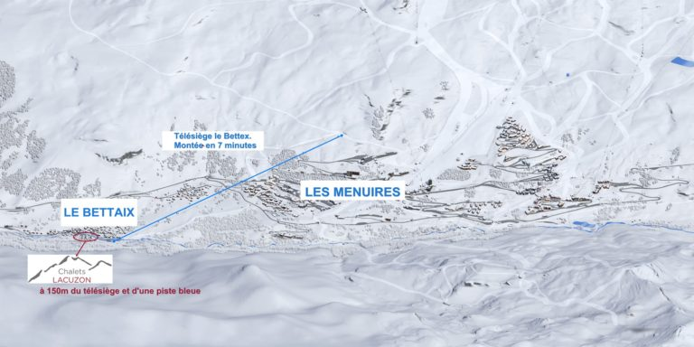 7 minutes by lift to les Menuires