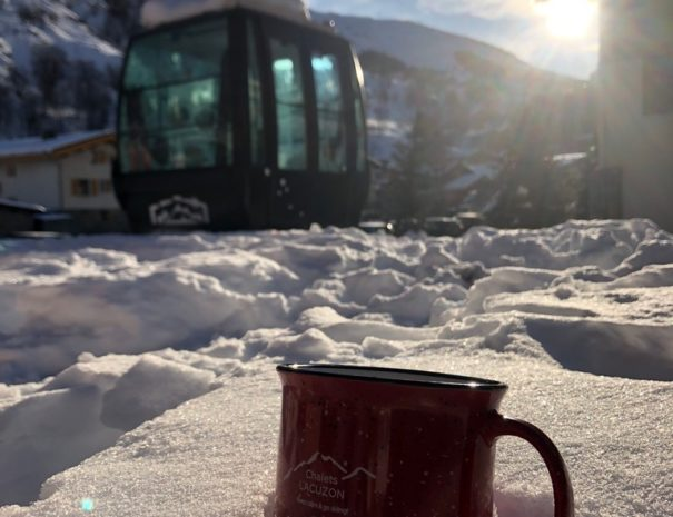 Coffee break @Chalets-Lacuzon