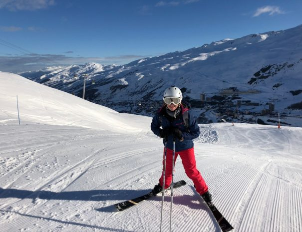 First on the slope in les Menuires