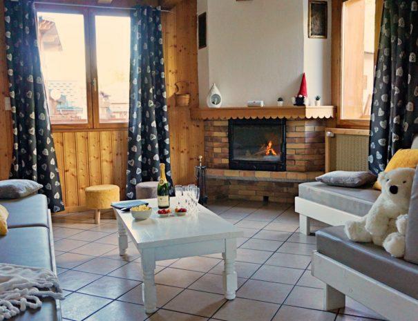 Chalet Snow Valley-cheminée dans le salon