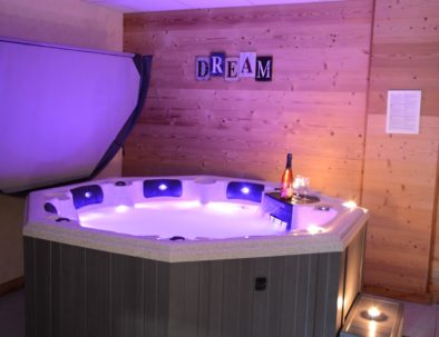 Indoor hot tub in the wellness area
